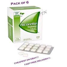 Freshmint Gum Nicorette 2mg Gum 210 Pieces - 6 Pack Expiry 08/2022