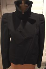 GUCCI 100% AUTHENTIC JACKET BLACK SINGLE BREASTED BLAZER ZIPPER 44