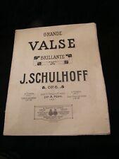 Partition Grande Valse Brillante Schulhoff Music Sheet