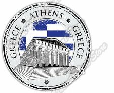 Athens Greece Country Flag Stamp Car Bumper Window Vinyl Sticker Decal 4.6""