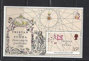 TRISTAN DA CUNHA - 293  & 347 S/S - MNH - 1981-83 -MAP & 500TH ANN BIRTH RAPHAEL