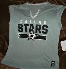 Dallas Stars sleeveless workout shirt women's small Adidas NHL performance gear