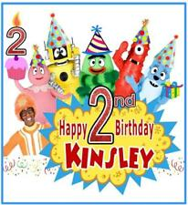 YO GABBA GABBA BIRTHDAY T-SHIRT Personalized Any Name/Age/Family Toddler- Adult