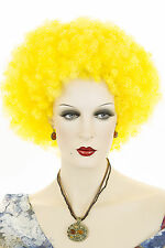 Jumbo Afro Medium Blonde Brunette Red Curly Fun Color Costume Wigs