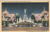 *(S) 1939 Golden Gate International Exposition - Court of the Flowers - Night