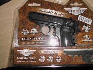 umarex airguns ppk/s legends brand new co2 air pistol 177 caliber steel bb metal