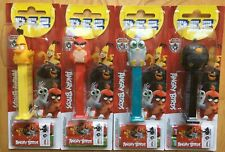 2019 EUROPEAN PEZ SET OF 4 MINT ON CARDS MOC ANGRY BIRDS WITH SILVER BIRD