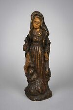 More details for 18th century italian carved wood madonna religious icon / figure