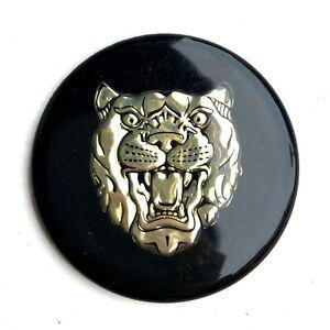 Genuine Jaguar Wheel Center Cap Black and Gold Growler Badge | XJS XJ6 | CAC6502