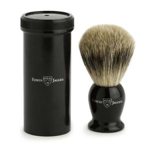 Edwin Jagger Best Badger Travel Brush with Case, Black