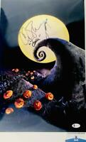 Chris Sarandon signed Jack Skellington 11X17 METALLIC photo BAS COA WA04910