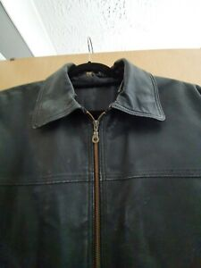 Mens leather jacket large used