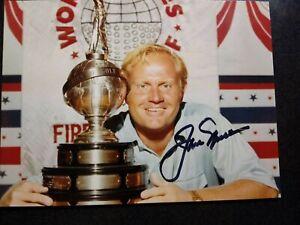 JACK NICKLAUS Authentic Hand Signed Autograph 4X5  Photo - PGA GOLF LEGEND