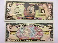 Disneyland 2008 Mickey Mouse 80th $10 Ten Disney Dollar Mint A00000832