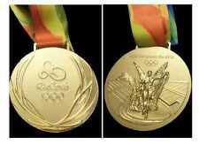 Rio 2016 Olympic 'Gold Medal' & Silk Ribbon : Ribbons & Display Stand !!!