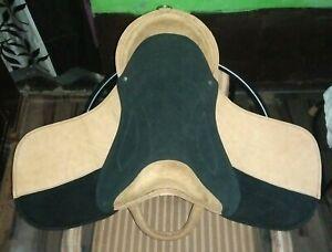 """Horse Cub Saddle-Children's Leather Saddle-Black/Beige 14"""""""