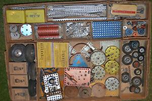 Mignon Metallbaukasten, mit 250 Federwerkmotor Alt, ähnlich Märklin ,Trix