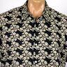 TorI Richard Hawaiian Camp Shirt Mens XL Brown Floral Print 100% Cotton Lawn