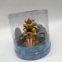 "Super Mario Kart Bowser Pull Back Racer PVC Plastic Figure Car Kart Toy 5"""