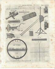 1798 Microscope MICROMETER telescope AMERICAN print DOBSON scientific instrument