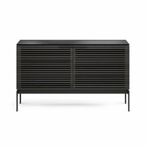 NEW Corridor 7128SV Slim Entertainment Cabinet   Charcoal Stained Ash