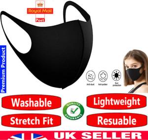 Reusable Face Mask Covering Washable Breathable Dust TFL Hospital Visitor UK