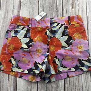 "Ann Taylor LOFT Women's Size 6 The Riviera Shorts Floral Print Chinos 4"" Inseam"