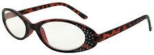 New retro reading glasses tortoiseshell frame with diamante trim +1.5 Box AB