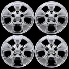 "Set of 4 fits 2010-13 Kia Soul 15"" Bolt On Chrome Hub Caps Full Rim Wheel Covers"