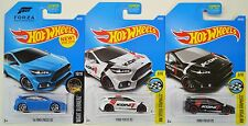 2016 2017 Hot Wheels: '16 Ford FOCUS RS Blue White Black 1st Edition - 3 Car LOT
