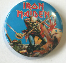 "IRON MAIDEN Old/Vintage 1980`s Button Pin Badge(25mm-1"")"