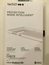 Tech21 Evo Check Case For Samsung Galaxy S8+ Plus Clear/White NEW