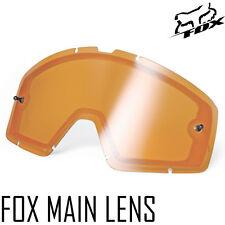 FOX GENUINE MOTOCROSS MX ENDURO DUAL VENTED ORANGE ENDURO LENS fits FOX MAIN