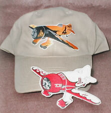 GEE BEE Airplane Aircraft Aviation Hat With Emblem Low Profile Style Pair