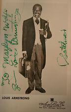 Louis Armstrong ++ Autogramm ++ legendärer Jazz-Spieler Sänger Autograph