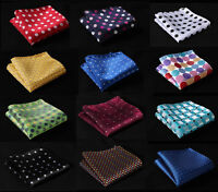 Polka Dot Color AU Men Silk Satin Handkerchief Pocket Square Hanky Wedding Party