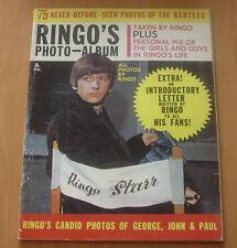RINGO'S PHOTO ALBUM  BEATLES MAGAZINE  1964  COMPLETE  BLACK AND WHITE