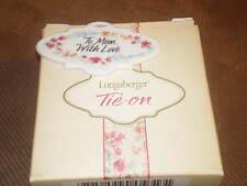 Longaberger 2001 Mother's Day Vintage Blossoms Basket Tie-On