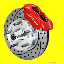 Wilwood Camaro Chevelle Nova Disc Brake Kit Brakes Drilled Slotted 12 Rotors Red