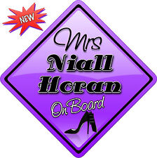 Mrs Niall Horan One Direction Novelty Car sign like Baby on Board New 1D