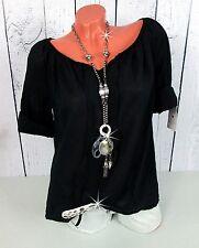 Hübsche hauchzarte Bluse / Tunika / Shirt in schwarz by Italia Moda Gr. 38 40