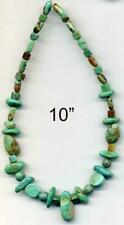 """Turquoise Beads Elisa Mine ~Blue/Brown New Mexico 4-15mm Nothing Added 10"""""""