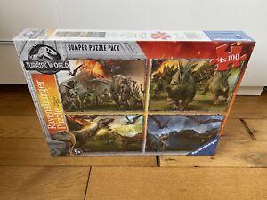 Ravensburger Jurassic World Dinosaur Jigsaw Puzzle Bumper Pack 4x 100.NEW/SEALED