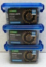3x 300 Homebase Warm White Christmas Decorations LED String Lights Xmas 15m