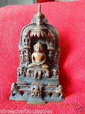 Old Indian Antique Copper Primitive Parasnath Jain Religious Miniature Engraved