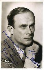 RENE HERENT opera tenor signed photo