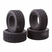 4x RC Auto Flat Racing Reifen Tires Wheel für 1:10 Traxxas Tamiya HPI Kyosho LKW
