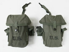 2x TYPE US Vietnam M-1956 Case small arms Ammunition pouch Magazintasche