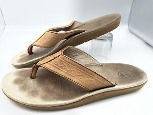 Tan Size 12 NWT Men/'s Margaritaville Flip Flops Brown