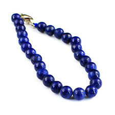105.00 Cts Natural Round Shape Unheated Blue Lapis Lazuli Beads Bracelet NK38MJ4